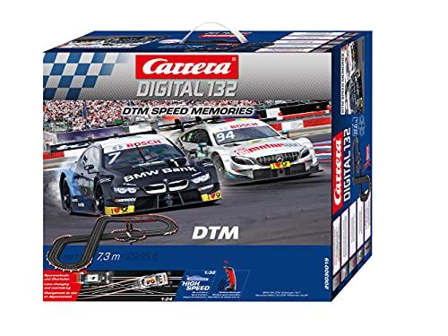Carrera DIGITAL 132 DTM Speed Memories Autorennbahn Set │ 2 ferngesteuerte Slotcars für drinnen │bis...