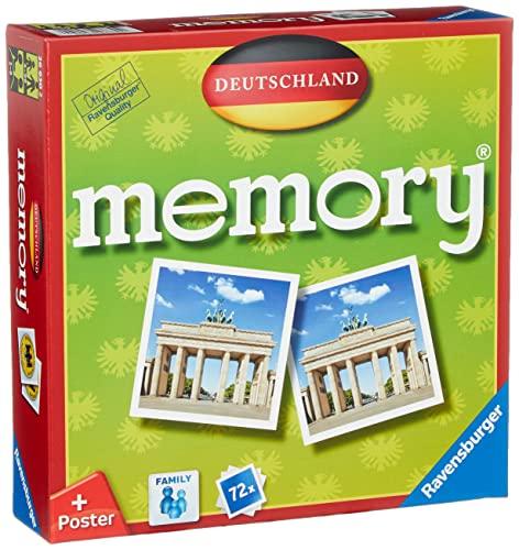 Ravensburger 26630 - Deutschland Memory, der Spieleklassiker quer durch Deutschland, Deutschlandreise,...