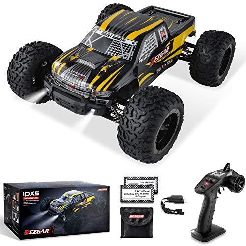 BEZGAR Ferngesteuertes Auto im Maßstab 1:10, 42 km/h All Terrains Elektrisches Spielzeug Offroad RC...