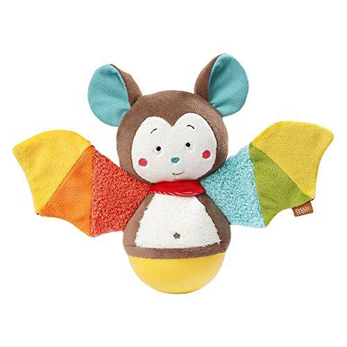 Fehn 067668 Stehauf-Fledermaus – Lustiges Spielzeug zum Greifen, Fühlen und Stupsen – Für Babys und...