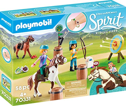 Playmobil 70331 DreamWorks Spirit Abenteuer im Freien mit Abigail und Boomerang, Ab 4 Jahren