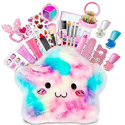 HOMCENT Kinder Schminkset, Schminkkoffer Mädchen Spielzeug, Waschbares Kosmetik-Set, Makeup Spielzeug...