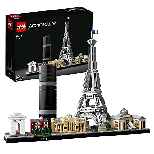 LEGO 21044 Architecture Paris Skyline-Kollektion, Eiffelturm und Louvre aus Bausteinen, Geschenk für...