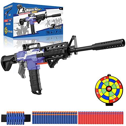 Elektrische Spielzeug Pistole mit 12 Clip Magazin, Automatische M416 Blaster groß mit 100 Nerf Darts, 3...