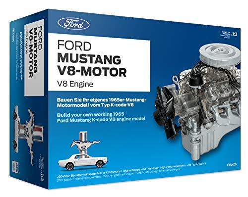 Franzis FMV019 Ford Mustang V8-Motor | 200-Teile Bausatz - transparentes, voll funktionsfähiges...