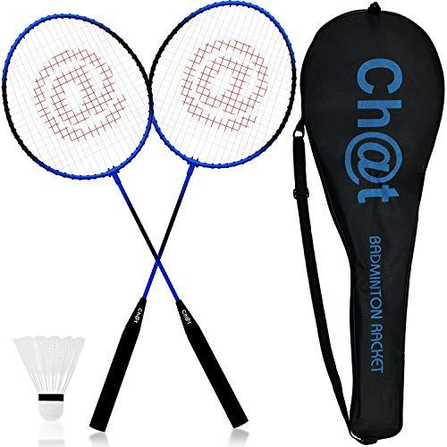 L+H XXL Federball & Badminton Set | Federballschläger gemischte Farben inkl. Federball &...