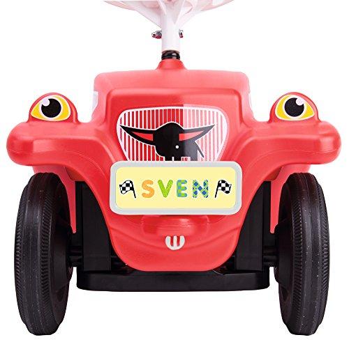 BIG - Bobby Car Mein Nummernschild - Namensschild für das Rutschfahrzeug, Inklusive Führerschein für...