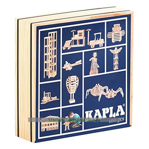 KAPLA Das magische Board 100 Stück Blauer Deckel