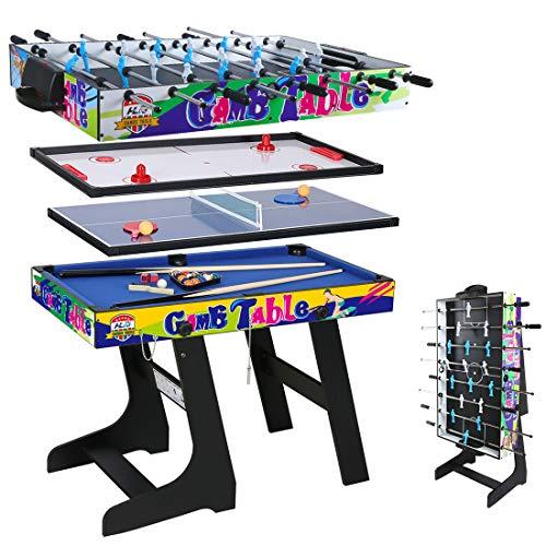 YP HLC 107 * 60 * 83 cm Zusammenklappbar 4 in 1 multifunkniertes Tischspiel -...