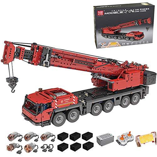 RcBrick Technik Kran, 4885 Teile Technik Schwerlastkran Technic Ferngesteuert Kranwagen mit 5 Motor und...