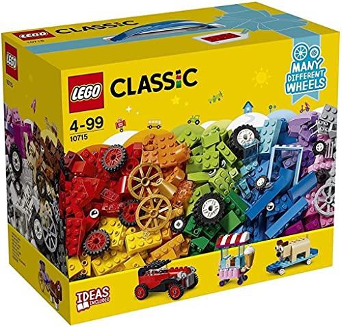 LEGO 10715 Classic Kreativ-Bauset Fahrzeuge, Bunte Bausteine, Bauspielset mit Reifen und Rädern (422...