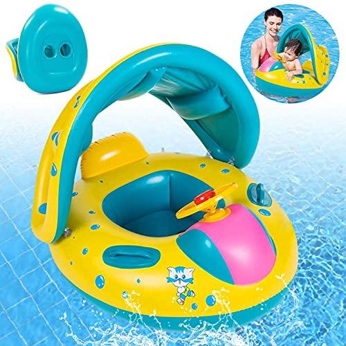 Baby Schwimmring,Baby schwimmring mit Sonnenschutz,Baby schwimmring aufblasbarer,Baby Pool...