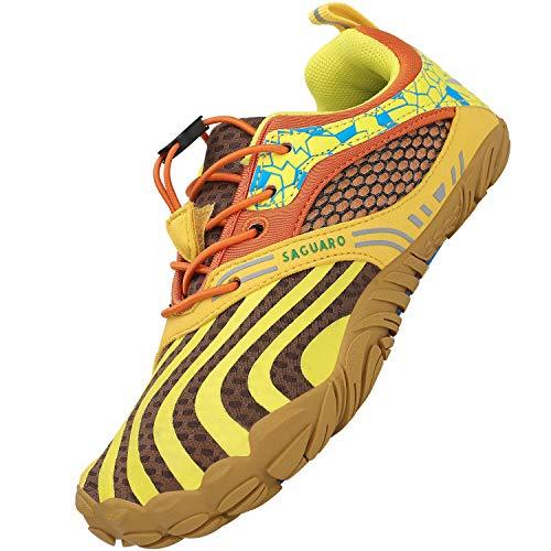 SAGUARO Kinder Barfußschuhe Mädchen Traillaufschuhe JungenTrainingsschuhe Zehenschuhe Atmungsaktiv...