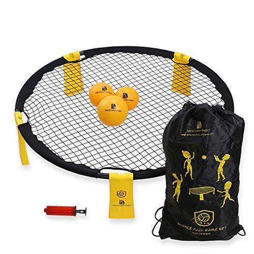 BOCHAMTEC Strikeball 3 Bälle Spielset – Aktuelles Bounce Netz inkl. Spielnetz, 3 Bällen, Tragetasche,...