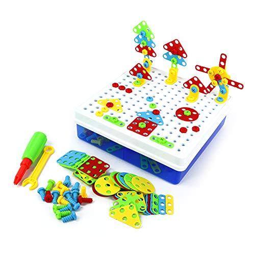Mxzzand Bauspielzeug, Kinderspielzeug 234PCS Puzzle Spielzeug Colorfu Pädagogisches Spielzeug für