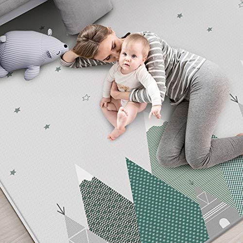 TONGJI Baby Spielmatte, Doppelseitig Faltbar XPE-Schaum Krabbeldecke Rutschfest Wasserdicht Spielteppich...