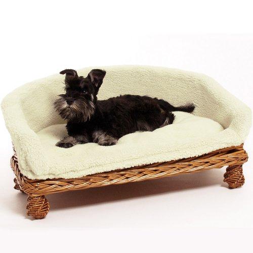 Weidenkorbsofa Weidenkorb Sofa 60 cm Das Hundesofa aus Rattan hat einen waschbaren Kuschel Bezug EIN...