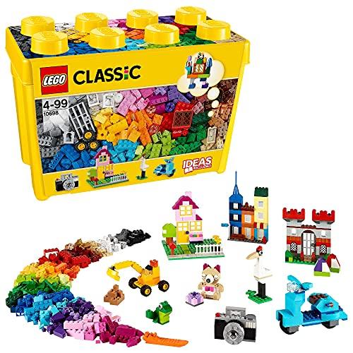 LEGO 10698 Classic Große kreative Bausteine-Box, Aufbewahrungsbox, Bunte Bausteine für LEGO Baumeister,...