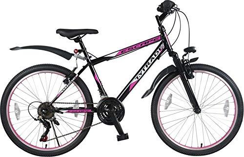 24 Zoll Mädchenfahrrad Kinderfahrrad Mädchen MTB Mountainbike Mädchenrad FEDERGABEL JUGENDFAHRRAD...