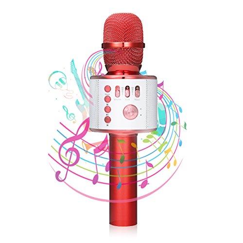bluetooth Karaoke Mikrofon, NASUM,tragbare drahtlose dynamisches Mikrofon mit Lautsprecher für...