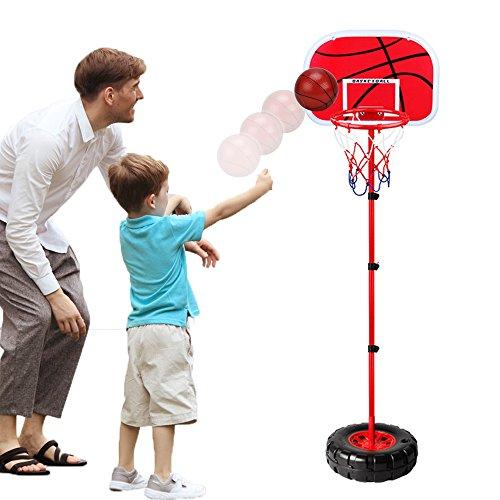 WISHTIME Kinder Einstellbare Basketballständer Basketballkörbe Basketballkorb mit Ständer...