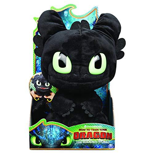 """Dragons Squeeze and Roar"""" - Ohnezahn, 28 cm großer Plüschdrache mit Soundeffekten, für Kinder ab 4..."""