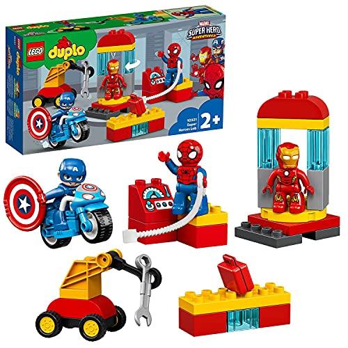 LEGO 10921 DUPLO Super Heroes Marvel Iron Mans Labor-Treffpunkt, Set mit Spider-Man, Iron Man und Captain...