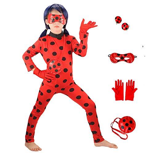 GREAHWD Kostüme Mädchen Marienkäfer Kostüm Kinder Halloween Karneval Overall Party Cosplay Kostüme...