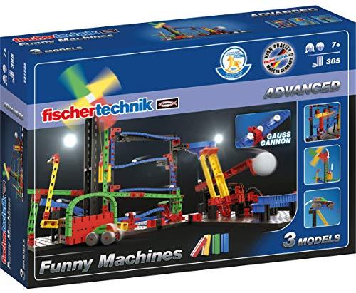 fischertechnik Funny Machines Kettenreaktion Spiel für Kinder ab 7 Jahren - 3 actionreiche Modelle...