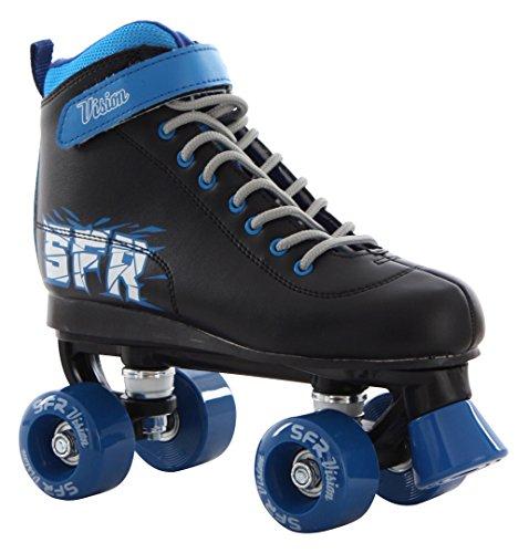 SFR Vision II Kinder Rollschuhe, Mehrfarbig (Schwarz / Blau), 37 EU