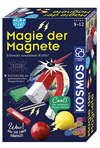 KOSMOS 654146 Fun Science - Magie der Magnete, Erforsche unsichtbare Kräfte und baue dir einen Kompass,...