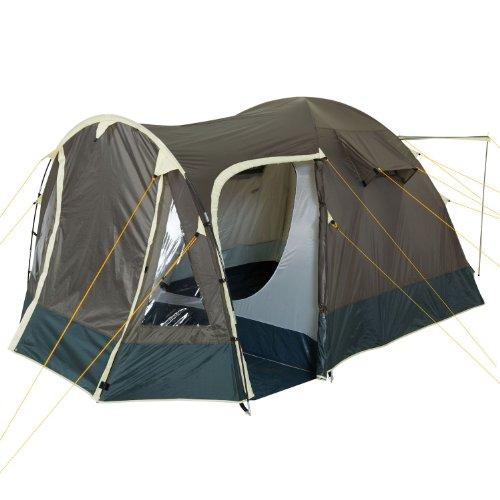 CampFeuer Igluzelt 4Trip Kuppelzelt mit Vorbau | Zelt für 3-4 Persone | Khaki | Campingzelt,...