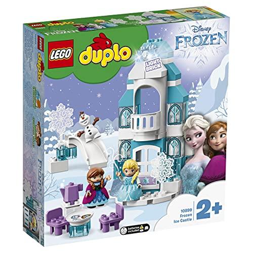 LEGO 10899 DUPLO Princess Frozen Elsas Eispalast, Bauset mit einem Leuchtstein, Prinzessin ELSA und Anna...