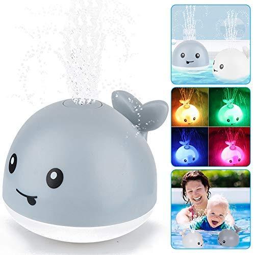 Baby Badespielzeug Wasserspielzeug ,Whale Spray Induction Schwimmende Baden Spielzeug mit Licht und...