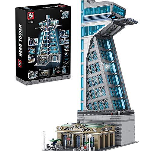Sunery Modular Haus Bausteine, 5883 Teilen Hero Tower Architektur Bausteine Bausatz mit LED-Licht, Tiger...