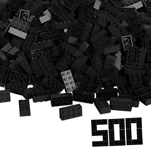 Simba 104118935 - Blox, 500 schwarze Bausteine für Kinder ab 3 Jahren, 8er Steine, im Karton,...