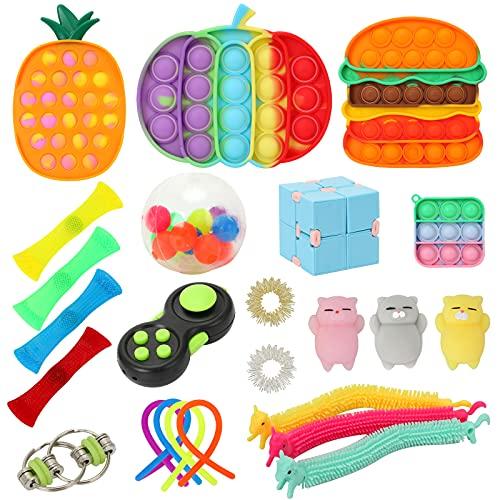 Sensory Fidget Toys Pack, Stressabbau & Angstlinderung Tools Bundle Fidget Toys Set für Kinder...