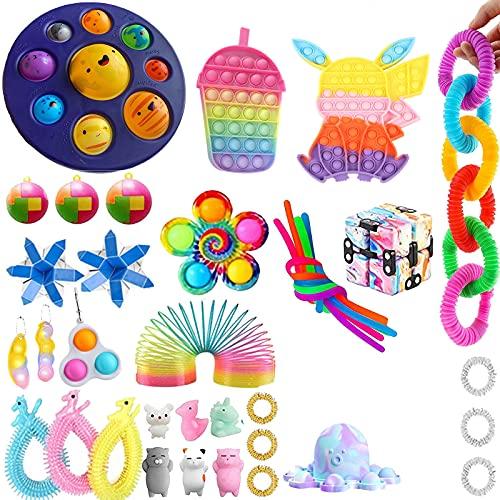 Thexpredr Sensory Fidget-Spielzeug-Set, 41-teilig, lindert Stress und Autismus, Spielzeug für Erwachsene...