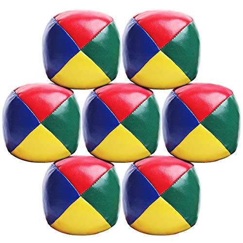 Elcoho 7er Pack Jonglierbälle Ball Jonglier Set für Anfänger Langlebig und weich Einfache...