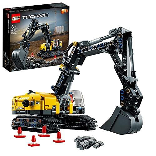 LEGO 42121 Technic Hydraulikbagger Bauset, 2-in-1 Modell, Baufahrzeug, Bagger Spielzeug ab 8 Jahren,...