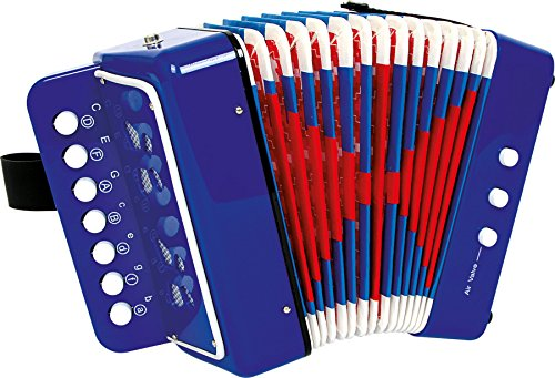 "Small Foot 2020271 Akkordeon ""Blau"", fördert das Musik- und Taktgefühl, Musikinstrument mit Gurt,..."