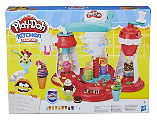 Play-Doh E1935EU6 Super Eiscreme Maschine, Knete für fantasievolles und kreatives Spielen, Multicolor