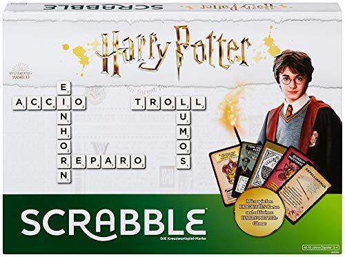 Mattel Games GMG29 - Scrabble Harry Potter Wörterspiel in deutscher Sprachversion, Familienspiele ab 10...