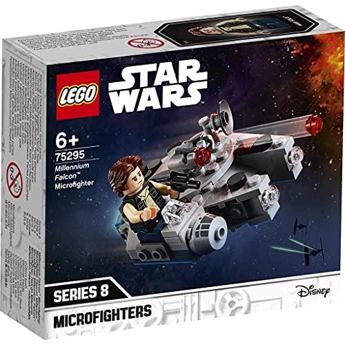 LEGO 75295 Star Wars Millennium Falcon Microfighter Spielzeug mit Han Solo Minifigur für 6-jährige...