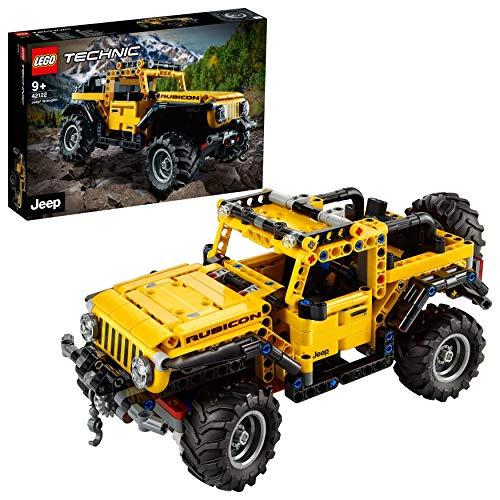 LEGO 42122 Technic Jeep Wrangler 4x4 Spielzeugauto, Geländewagen, SUV Modell Bauset