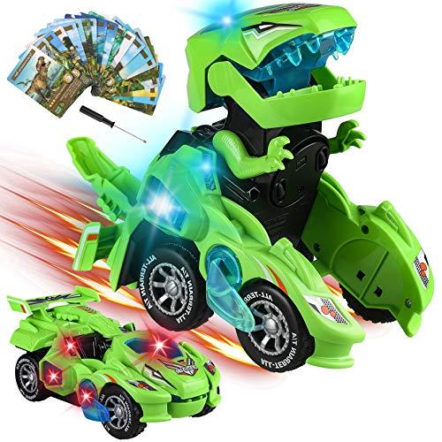 Yojoloin Dinosaurier Spielzeug,Transform Spielzeug,Cars Auto ab 5 6 7 8 Jahre,Spielzeugauto Auto...