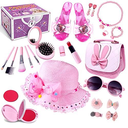 Kinderschminke Mädchen, Prinzessin vorgeben Verkleiden Set, Spielzeug Geschenke für Alter 3 4 5 6 7 8+...