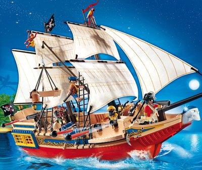 PLAYMOBIL® 4290 - Piraten - Großes Piraten-Tarnschiff