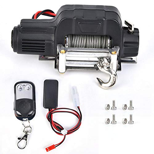 Tbest RC Winch Controller, kabelloser RC Crawler Winch Controller mit Controller Box, Winde, Schrauben,...