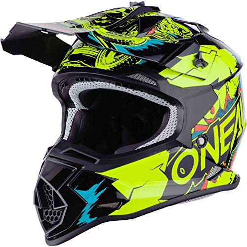 O'Neal Unisex-Kinder 2020 Youth 2 Series Helmet-Villain Off-Road-Helm, Neongelb, Large